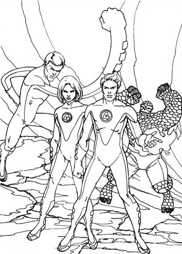 Picture Of Fantastic Four Coloring Pages