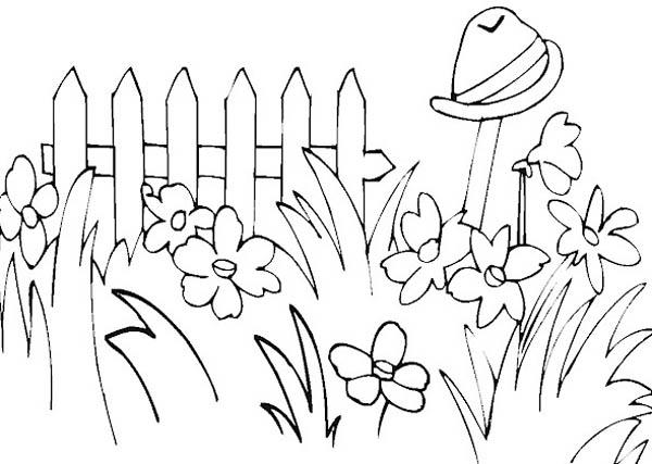 Picture Of Flower Gardening Coloring Pages