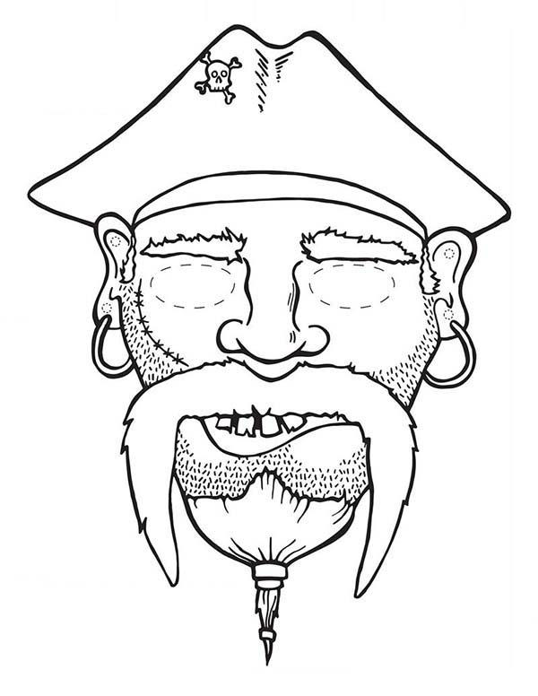 Picture Of Head Piet Pirate Coloring Pages