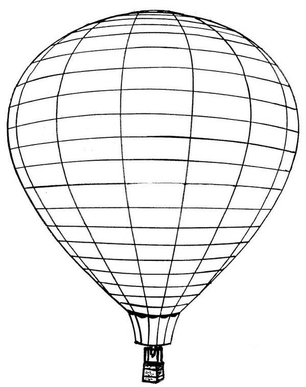 Picture Of Hot Air Balloon Coloring Pages