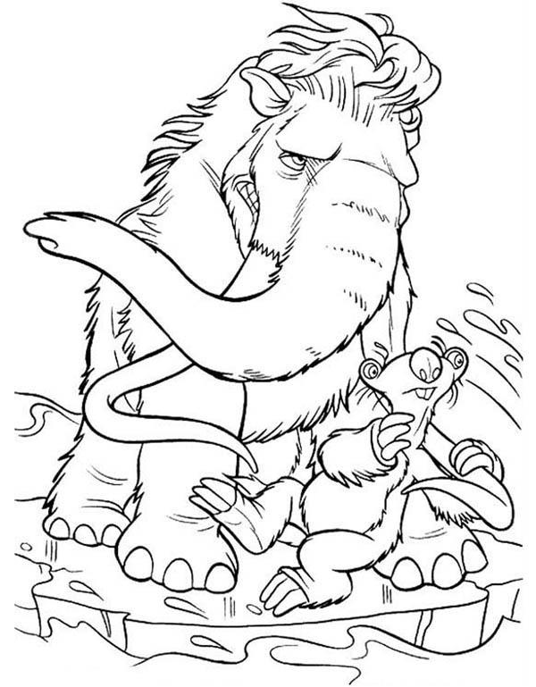 Picture Of Ice Age Coloring Pages