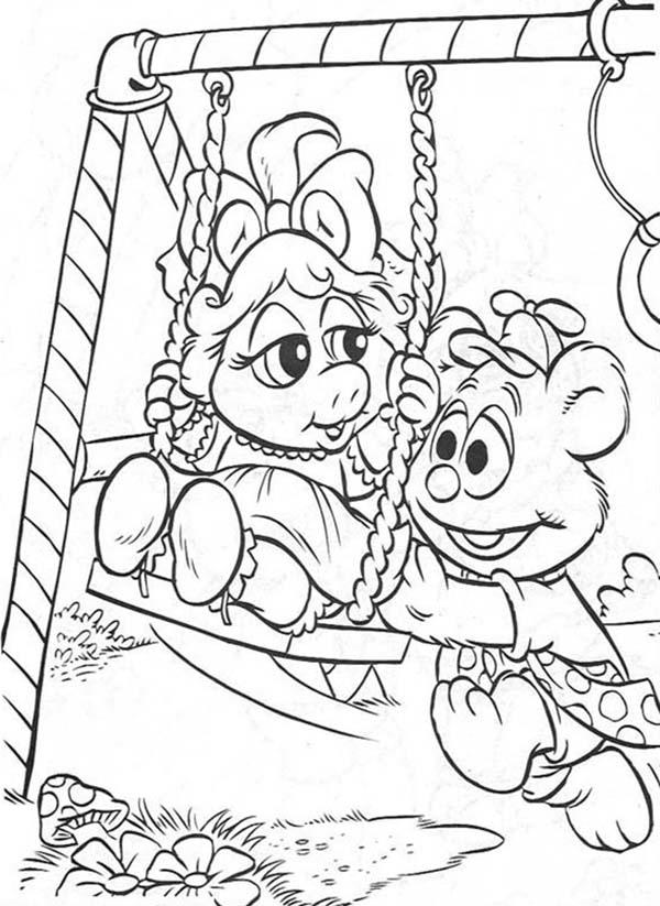 Picture Of Muppet Babies Coloring Pages