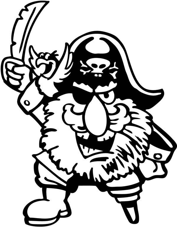 Picture Of Piet Pirate Coloring Pages