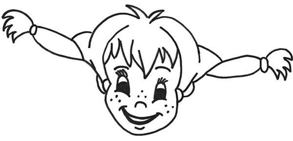 Picture Of Pippi Longstocking Coloring Pages