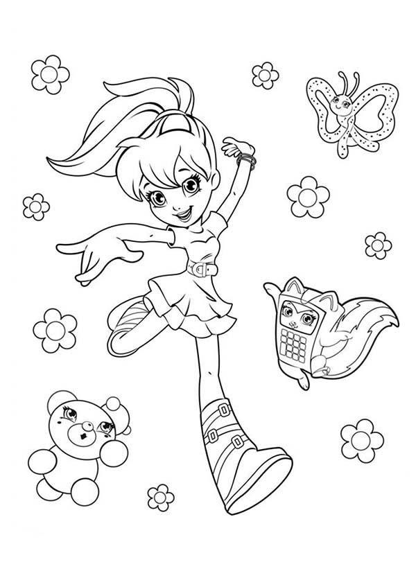 Picture Of Polly Pocket Coloring Pages