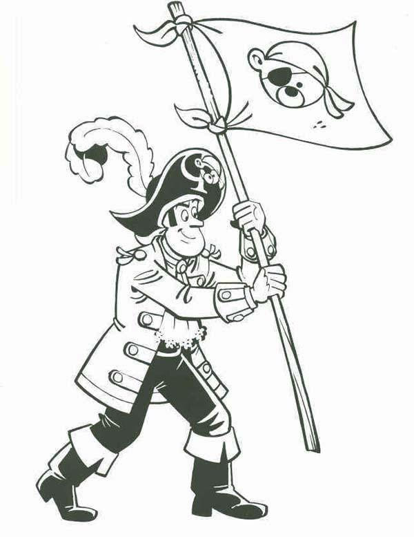 Piet Pirate Stick Pirate Flag On New Island Coloring Pages