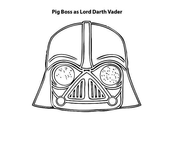 Pig Boss As Lord Darth Vader Is Angry Bird Pigs Coloring Pages