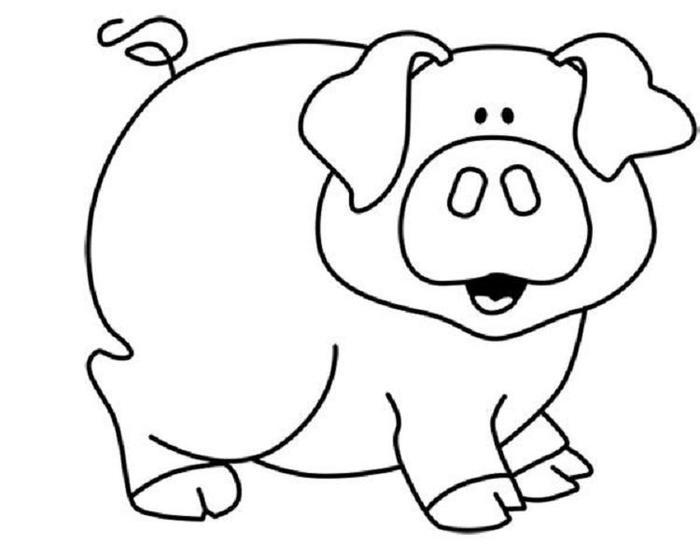 Pig Coloring Pages Free Primtable