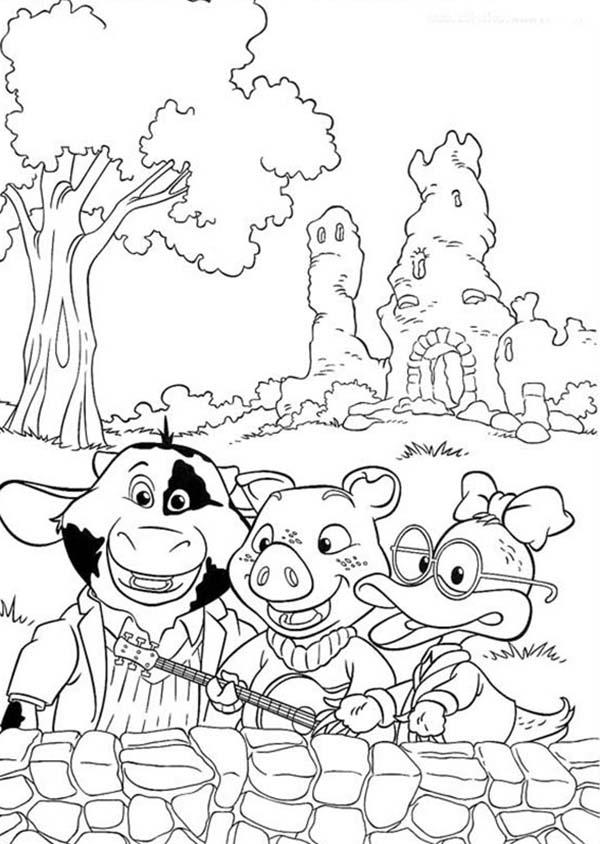 Piggly Wiggly And Friends Coloring Pages