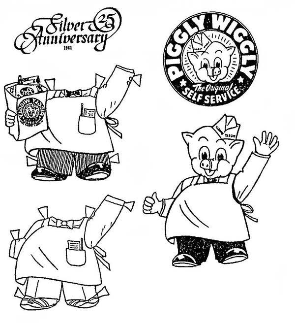 Piggly Wiggly Anniversary Coloring Pages
