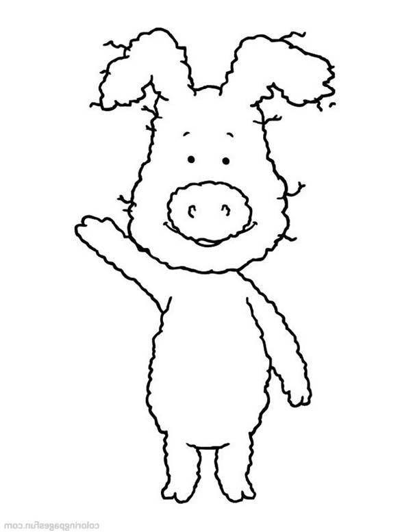 Piggly Wiggly Waving Hand Coloring Pages