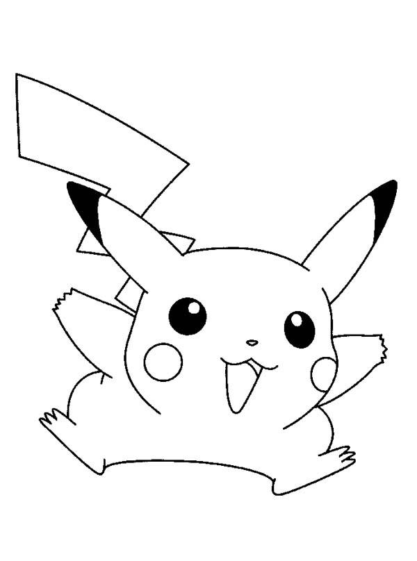 Pikachu Coloring Pages Funny