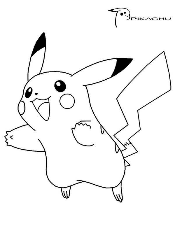 Pikachu Coloring Pages Jumping