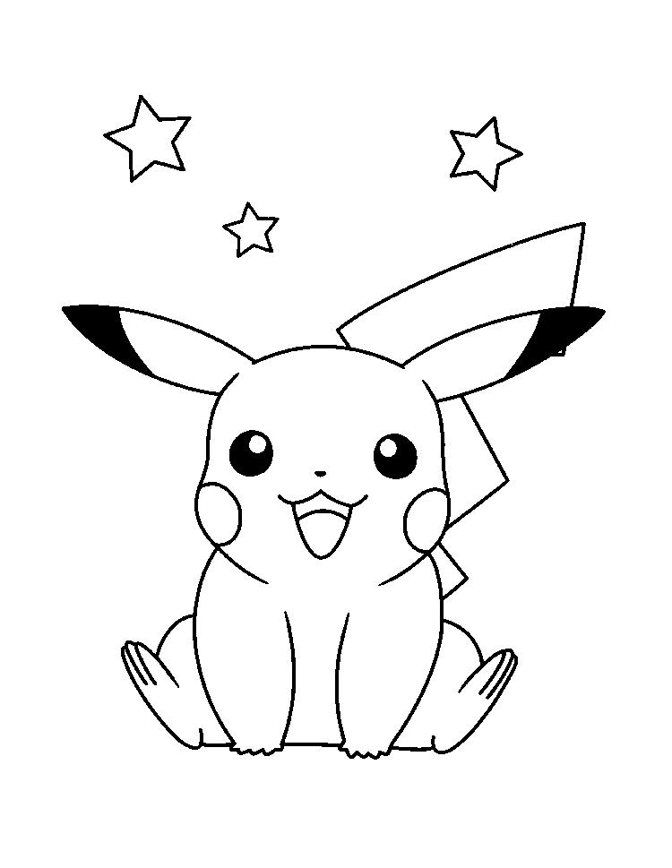 Pikachu Colouring Pages For Kids