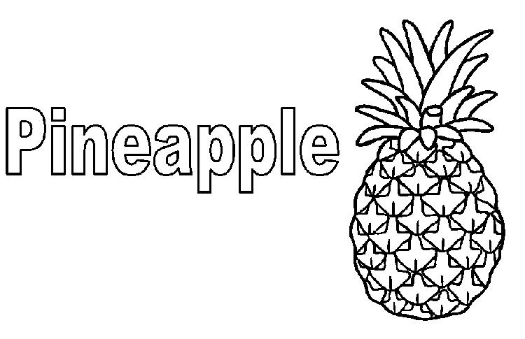 Pineapple Coloring Page Free
