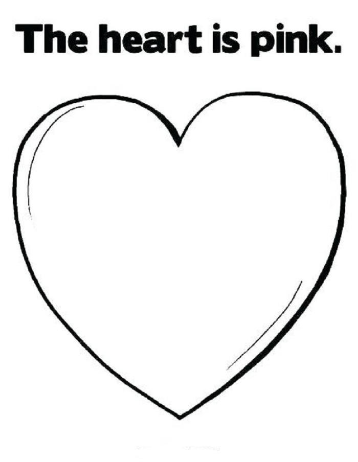 Pink Heart Coloring Pages