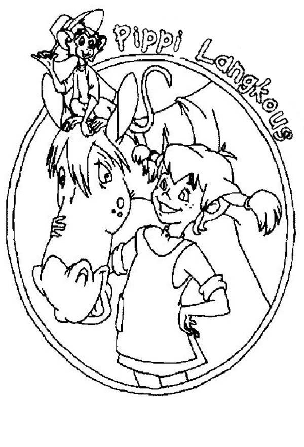 Pippi Longstocking Book Cover Coloring Pages