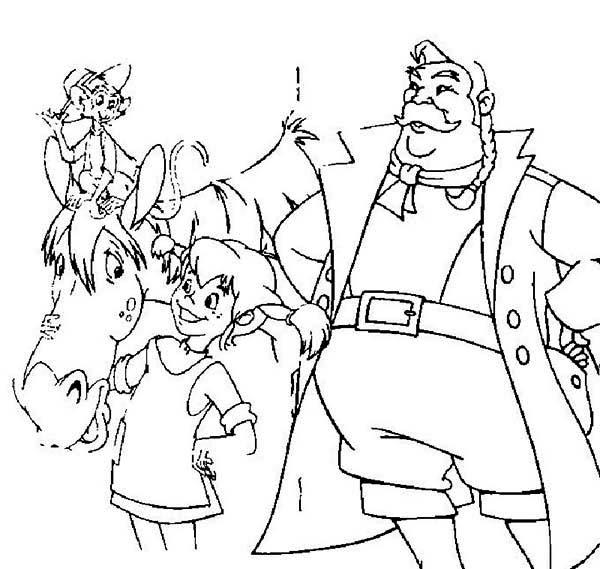 Pippi Longstocking Love Her Horse Coloring Pages