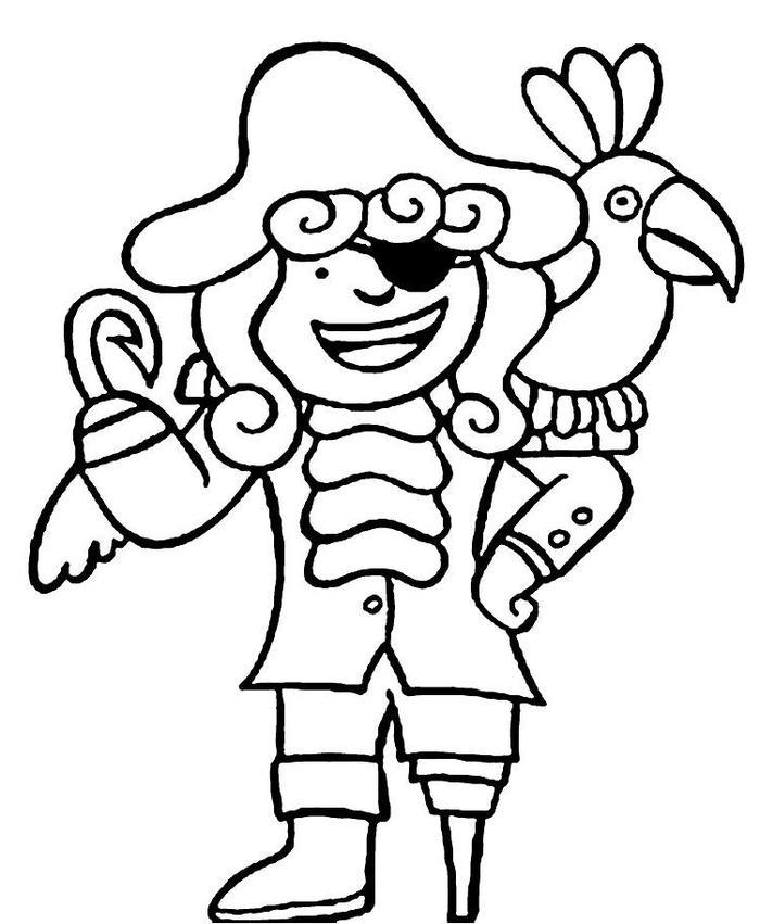Pirate Coloring Pages For Preschool
