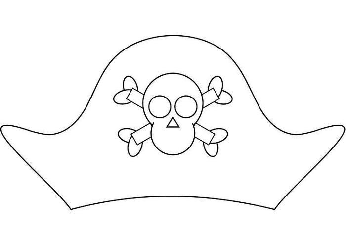 Pirate Hat Coloring Pages