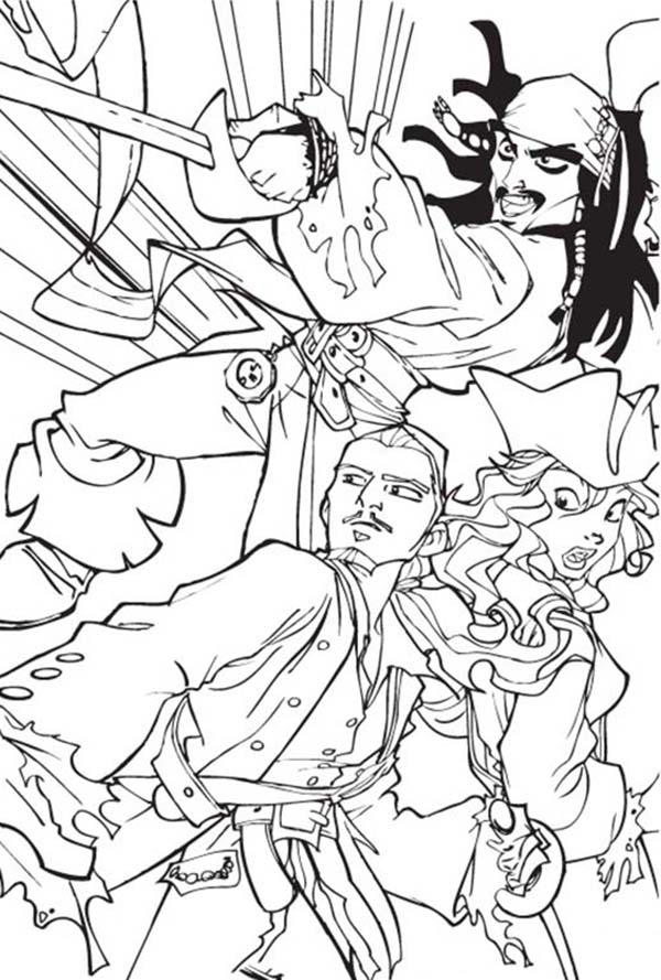 Pirate Of Carribeans Coloring Pages