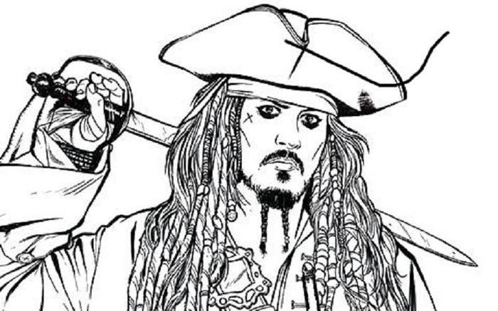 Pirate Of The Caribbean Coloring Pages