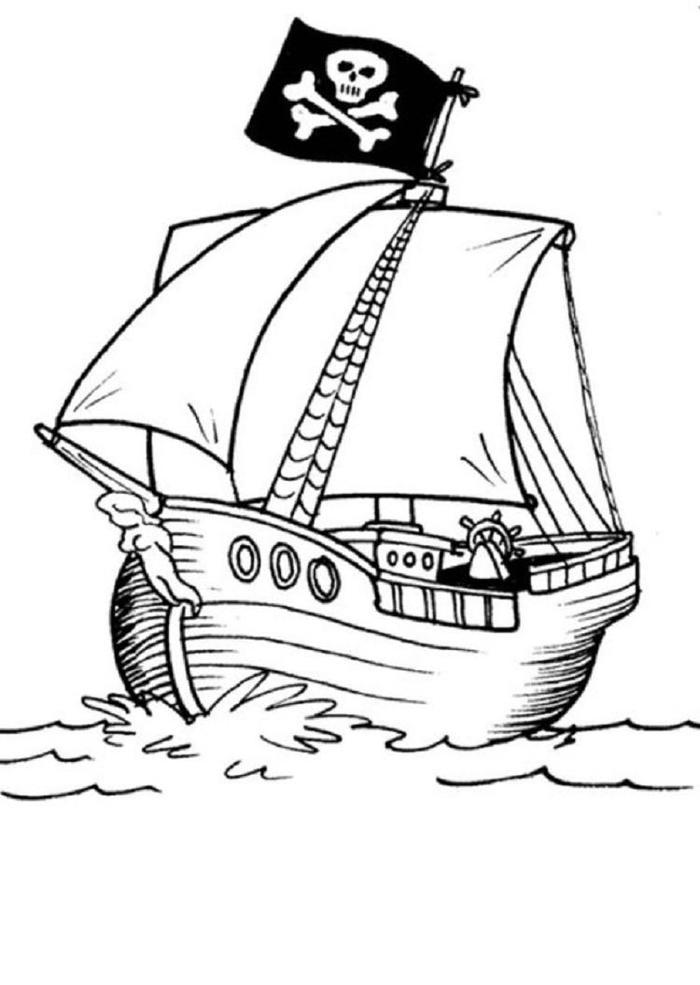 Pirate Ship Coloring Pages 1