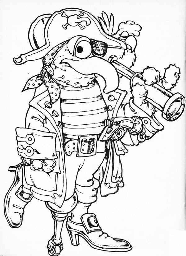 Pirate Tale In The Muppets Show Coloring Pages