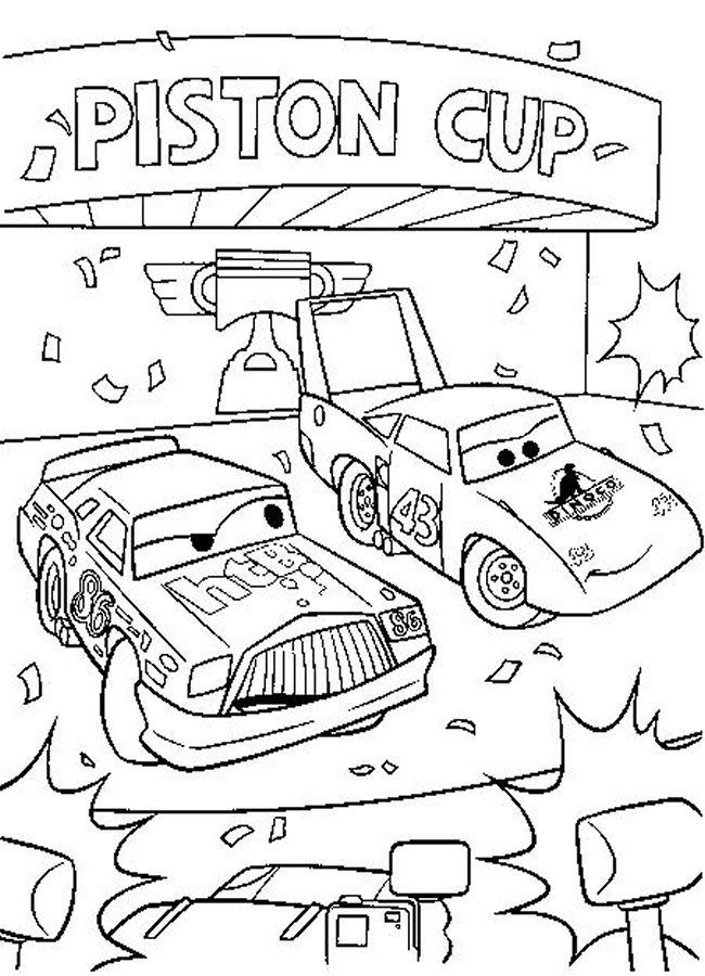 Piston Cup Disney Cars Coloring Pages 1