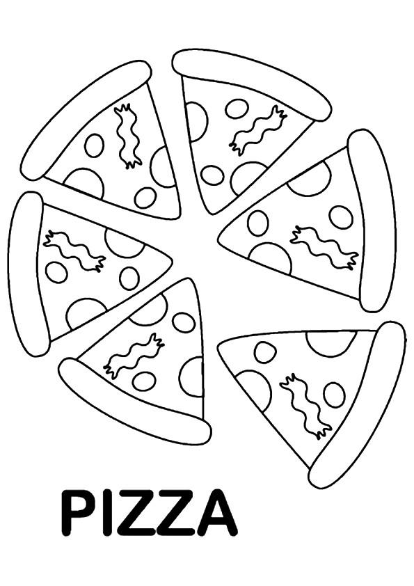 Pizza Coloring Pages For Kids