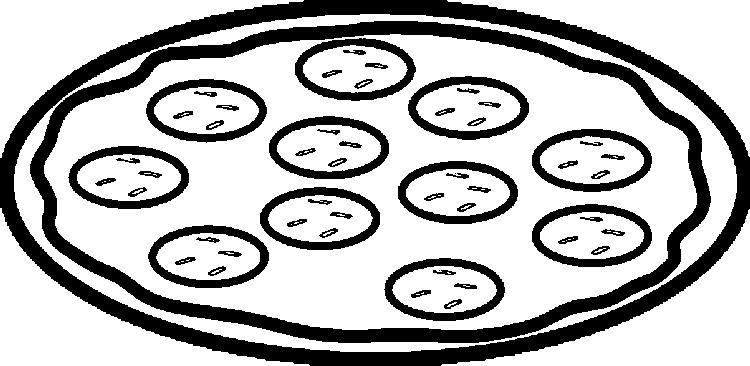 Pizza Coloring Pages For Preschooler