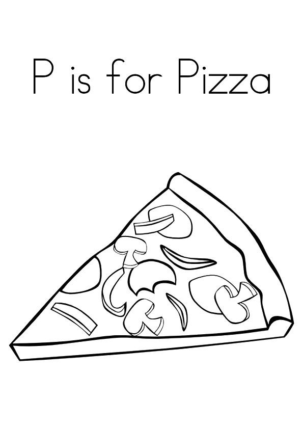 Pizza Coloring Pages P Is For Pizza