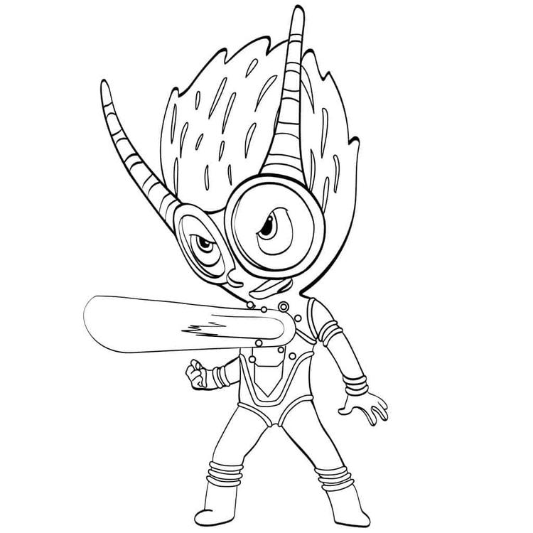 Pj Masks Villain Firefly Coloring Page