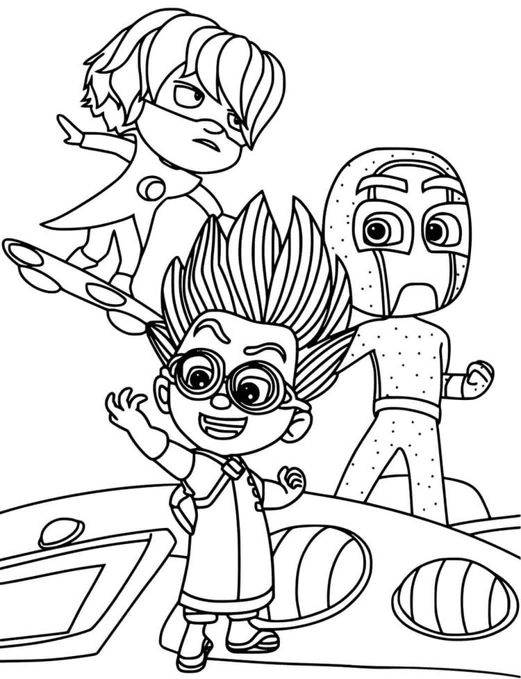 Pj Masks Villain Night Ninja Romeo Luna Girl Coloring Page