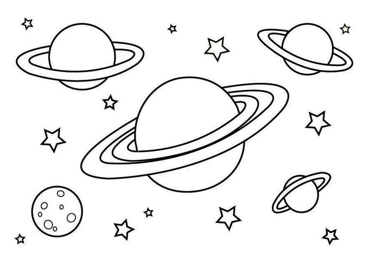 Planet Coloring Pages Space Planets
