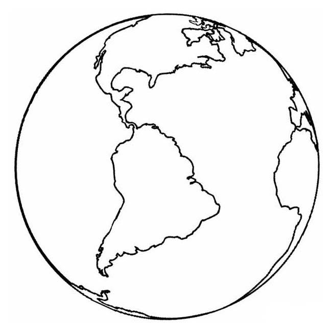 Planet Earth Coloring Pages Printable