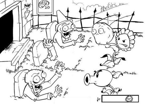 Plants Vs Zombies Coloring Page Printable