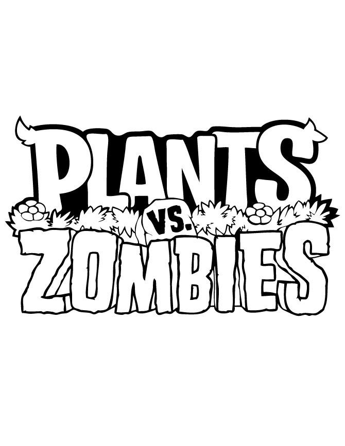 Plants Vs Zombies Coloring Pages Logo