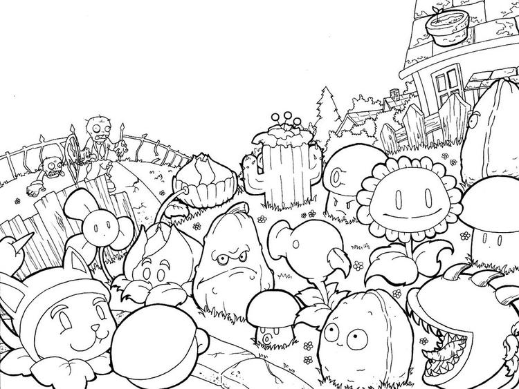 Plants Vs Zombies Coloring Pages Printable