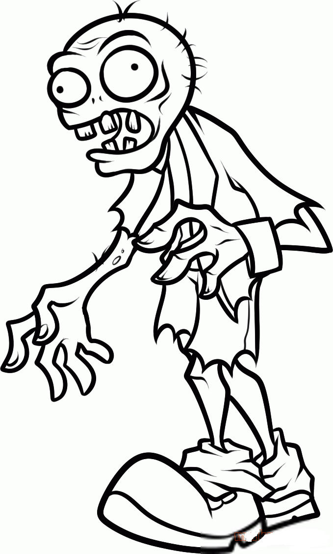 Plants Vs Zombies Coloring Pages Zombie Attacking