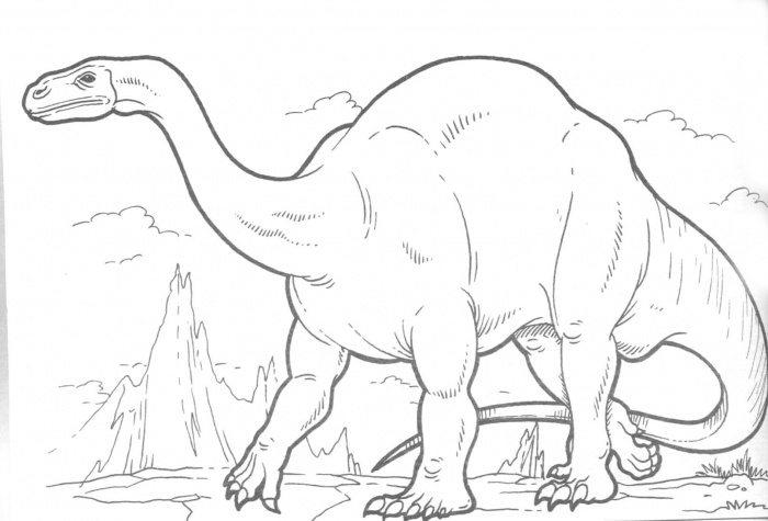 Plateosaurus Coloring Pages Printable Dinosaurs