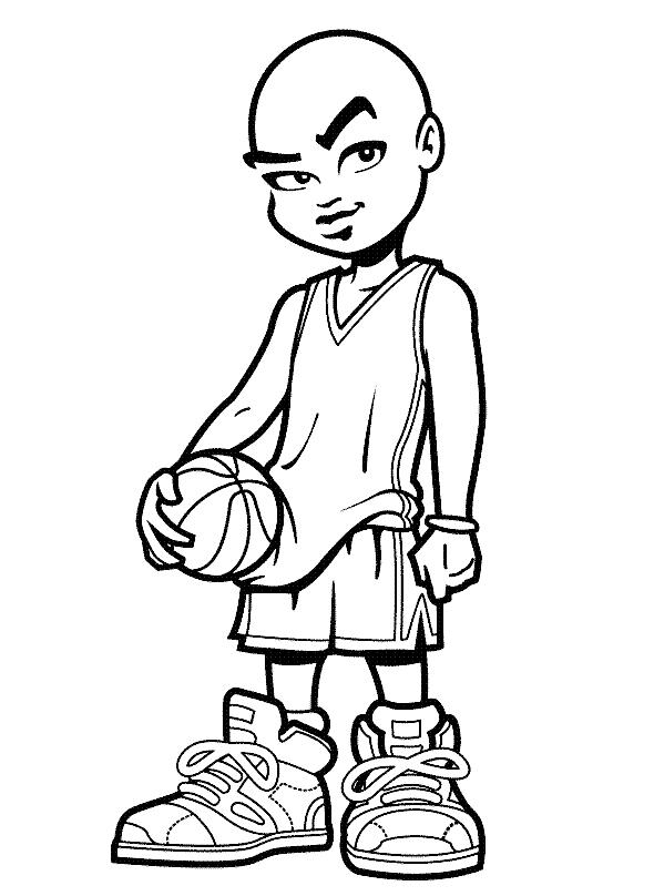 Player Basketball Coloring Pages