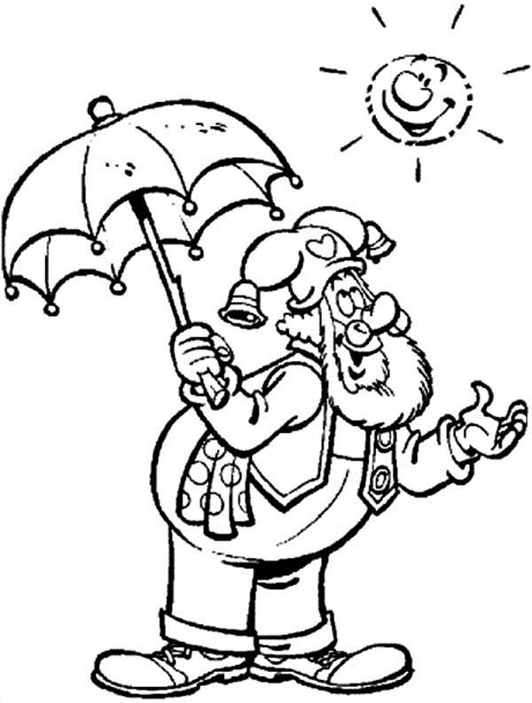 Plop The Gnome The Sun Shinning Bright Coloring Pages
