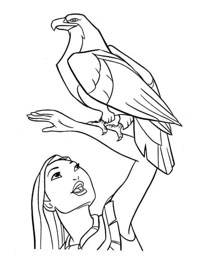 Pocahontas Coloring Pages Eagle