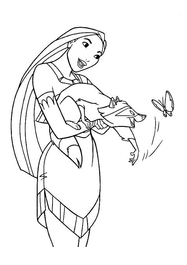 Pocahontas Coloring Pages Printable