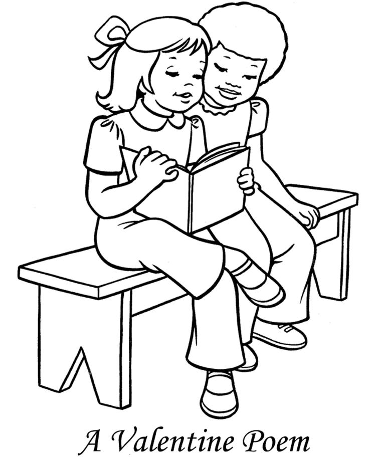 Poem For Valentine Coloring Page