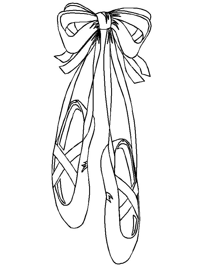 Pointe Ballet Shoes Coloring Pages