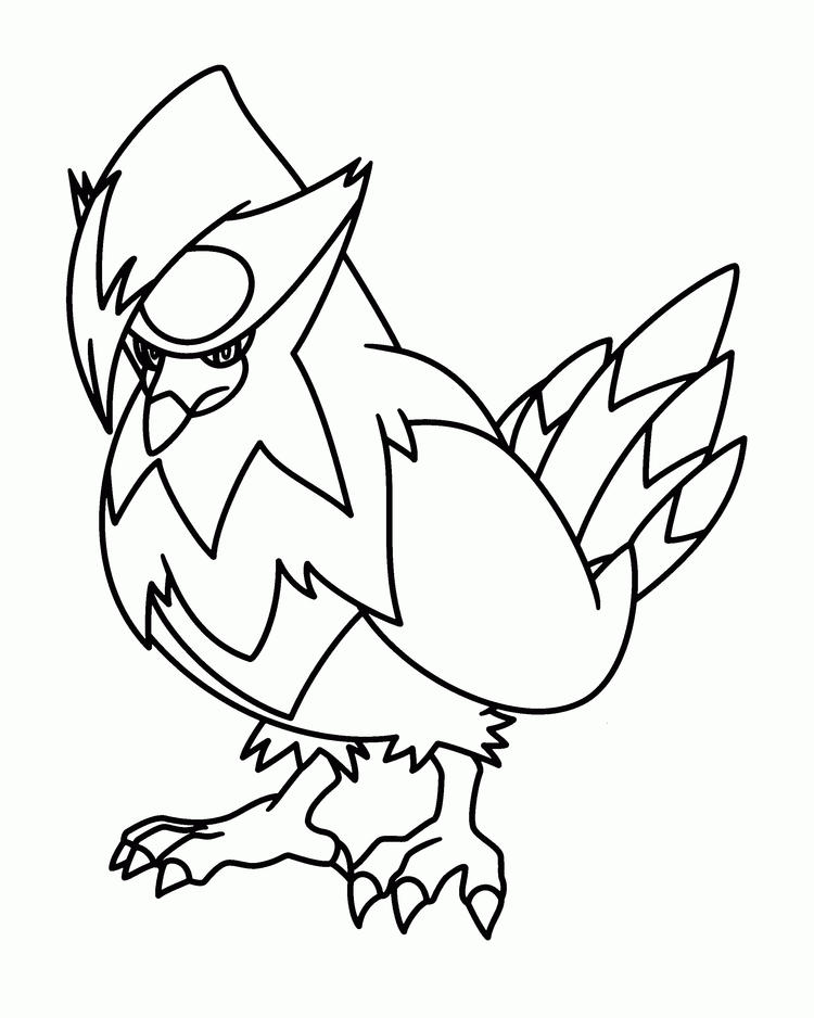 Pokemon Coloring Pages Birds Pokemon
