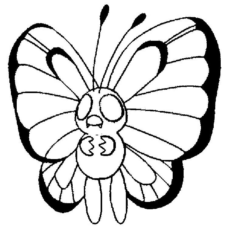 Pokemon Coloring Pages Butterfree