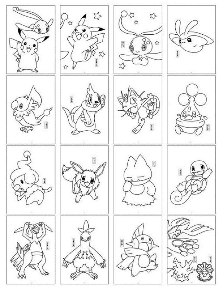 Pokemon Coloring Pages Cards